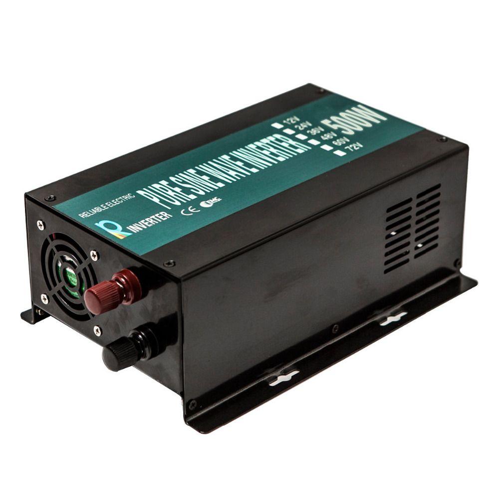 500 W Onde sinusoïdale Pure Onduleur 12 V 220 V Onduleur Solaire Onduleur Générateur 12 V/24 V à 120 V/220 V Convertisseur Transformateur de Tension