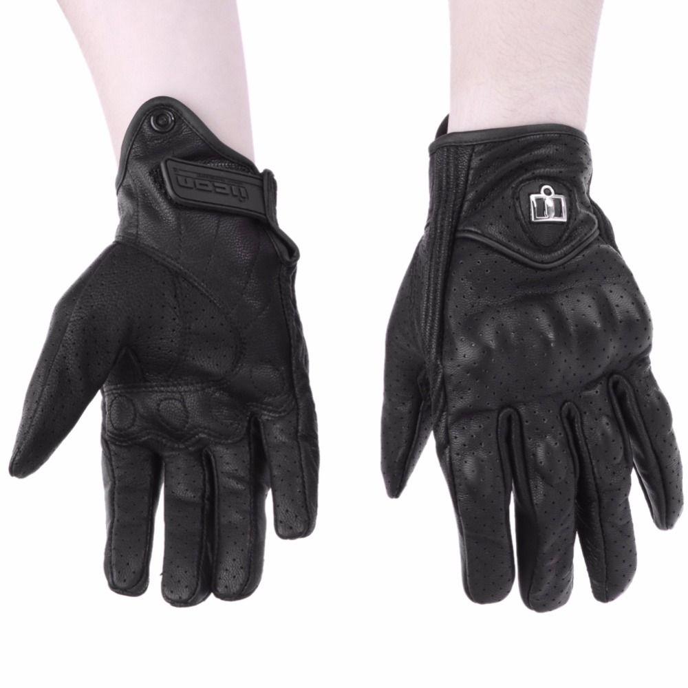 Для мужчин мотоцикл Прихватки для мангала Спорт на открытом воздухе Полный палец мото езда защиты бронированный черный короткие кожаные те...