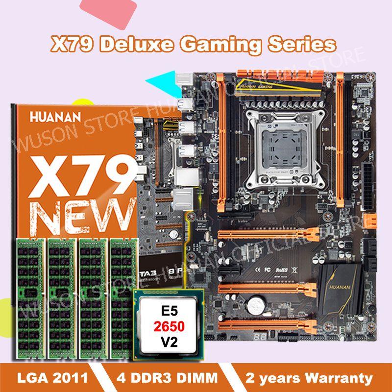 Rabatt HUANAN ZHI motherboard mit M.2 slot deluxe X79 LGA2011 motherboard bundle mit CPU Intel Xeon E5 2650 V2 RAM 16G (4*4G)