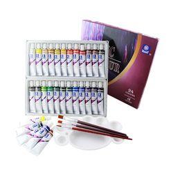 Памяти акриловый набор красок для рисования текстильной ткани маникюра ногтей с 3 кистями и 1 палитрой