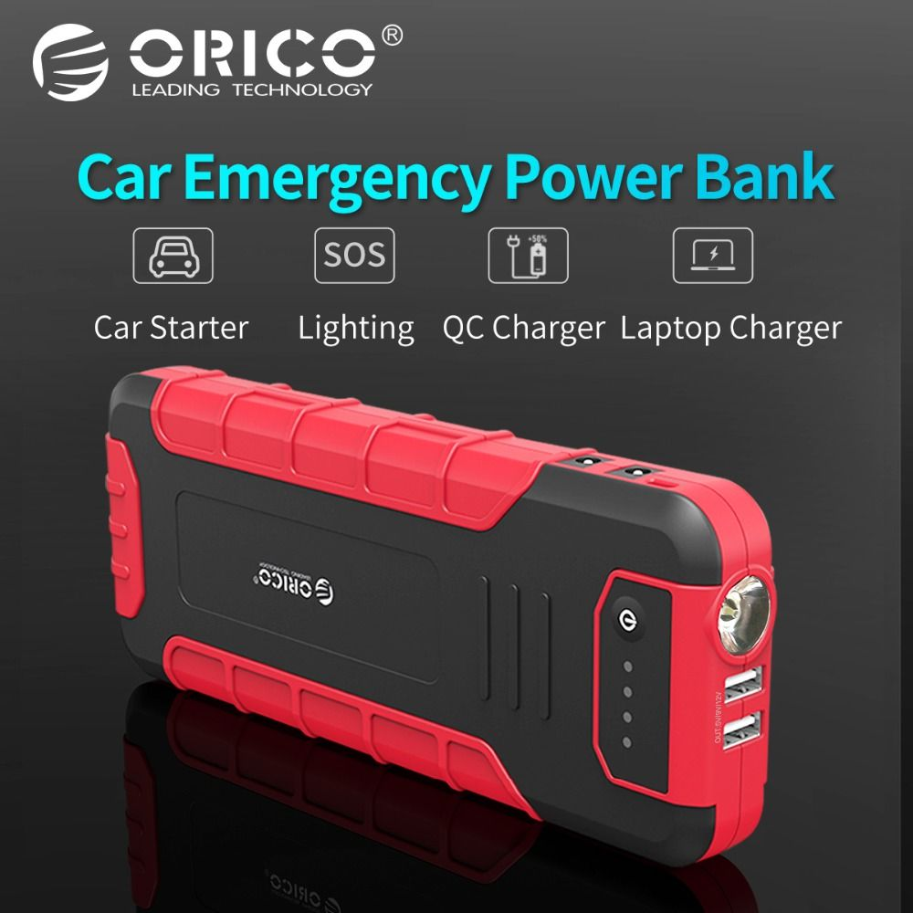 ORICO CS3 18000mAh Power Bank Multi-function External Battery Portable QC3.0 Battery Vehicle Engine Booster Emergency Power Bank