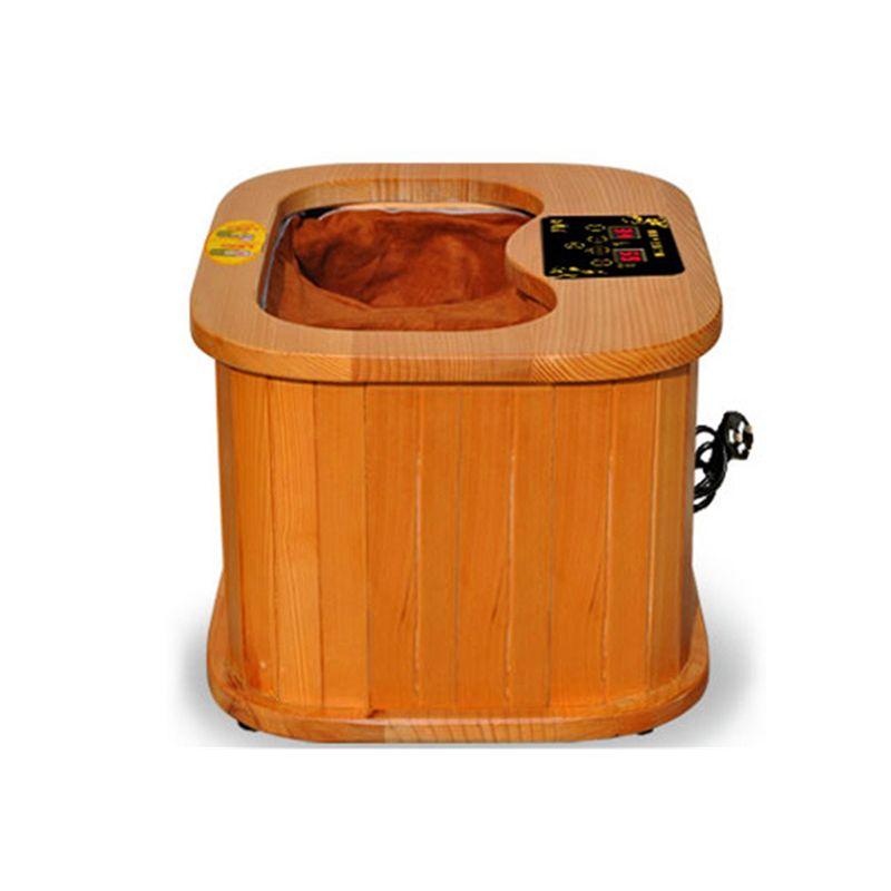 Far infrared Foot Sauna spectrum therapy barrel full automatic massage heating barrel Canadian hemlock wood