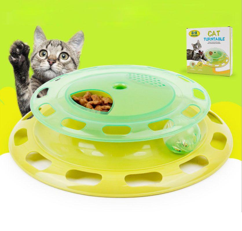 Pet Kitty Chat Jouet Interactif Platine Pet Jouet Formation Plaque D'attractions Fou Balle Disque