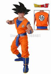 Dragon Ball Z Costume Vêtements Fils Goku Cosplay Costumes Top/Pantalon/Ceinture/Queue/wrister/Perruque pour Adultes Enfants