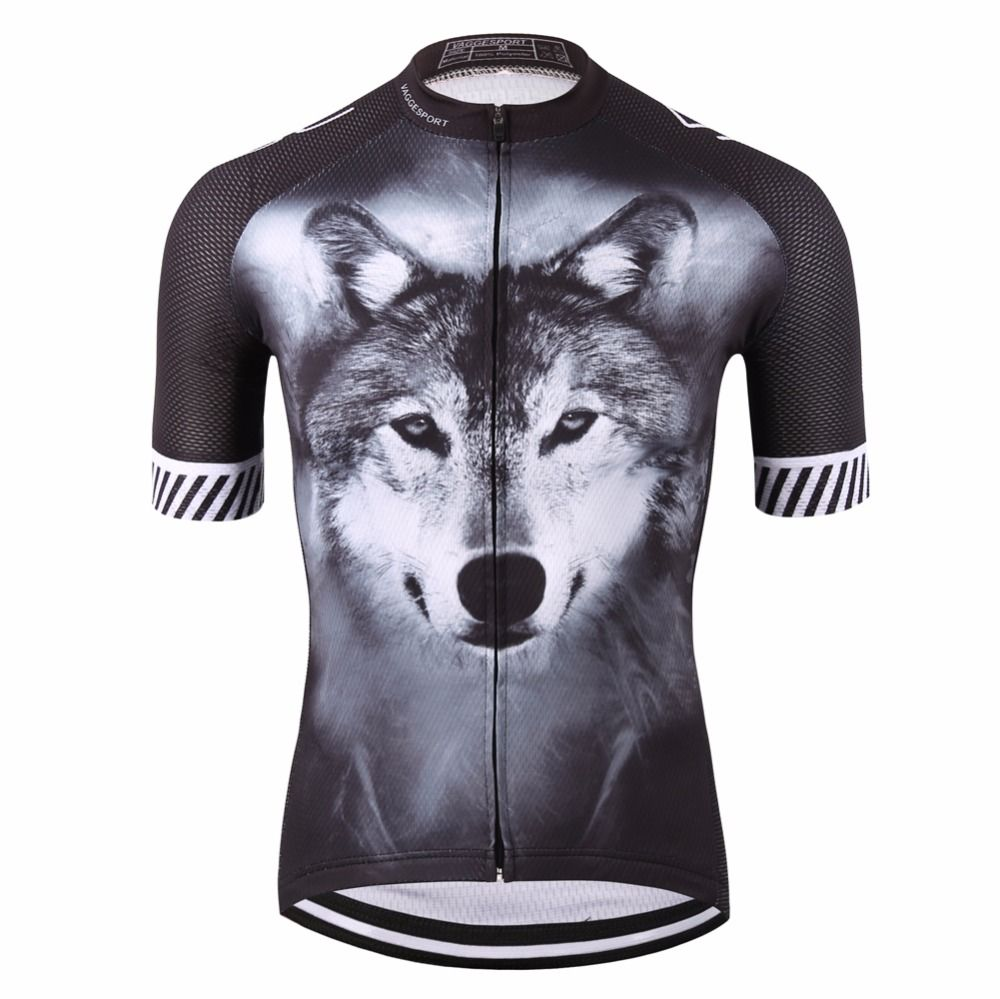 2019 <font><b>Wolf</b></font> Pro Unisex Cyclist Cycling Jersey Sports Original Summer Men Bike Wear Novelty Plus Size 3D Printed Cycling Shirts
