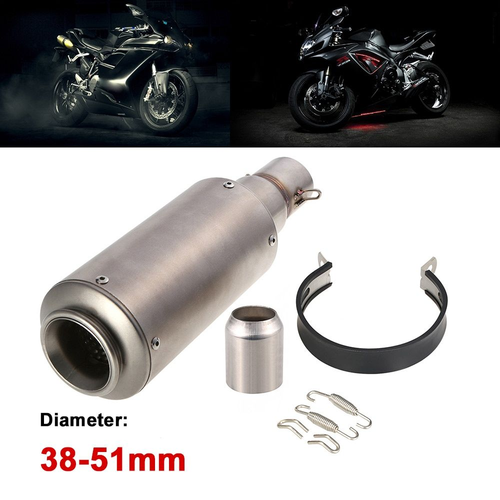 38-51mm frosting  colour Refit Exhaust Muffler With fit for Motorcycles ATV Universal