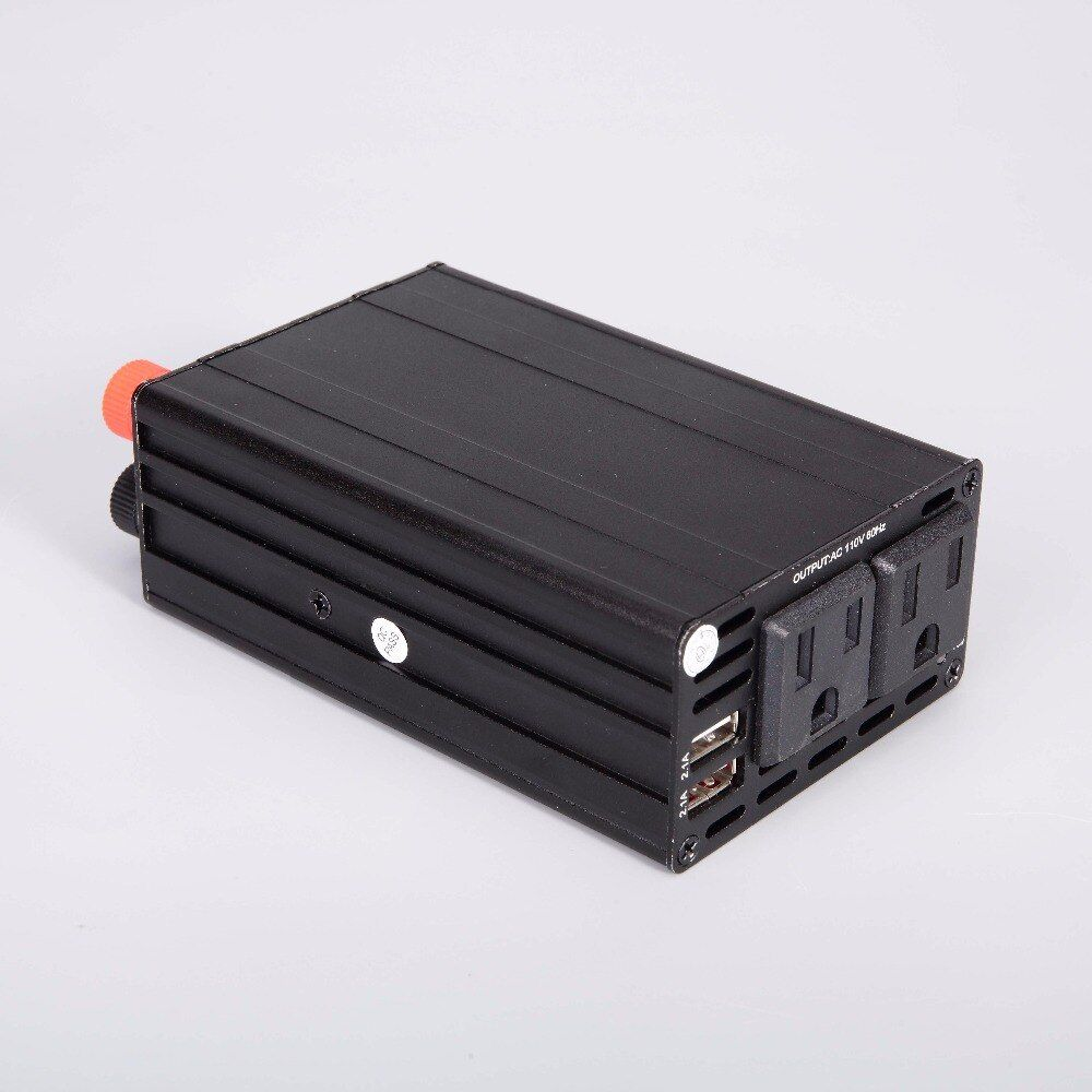 300W US Inverter 12V/24V to 110v Car Inverter Automotive Power Converter Dual USB 4.2A