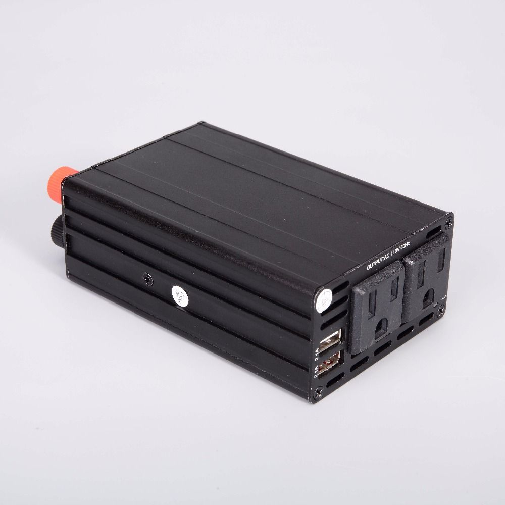 300W US Inverter 12V/24V to 110v Car Inverter Automotive Power <font><b>Converter</b></font> Dual USB 4.2A