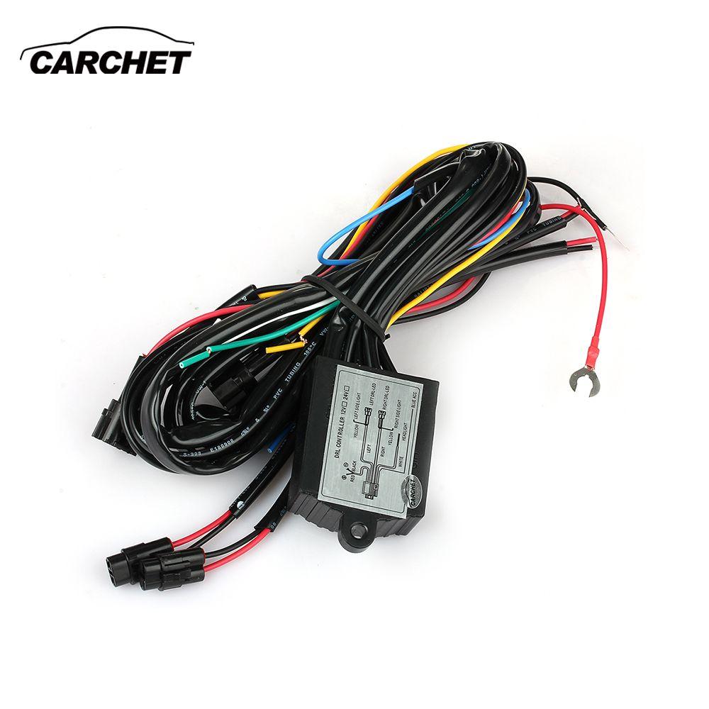 CARCHET LED DRL lumière diurne relais faisceau contrôleur On Off variateur voiture DRL feux diurnes DC 12 V 30 W DISCOUNT