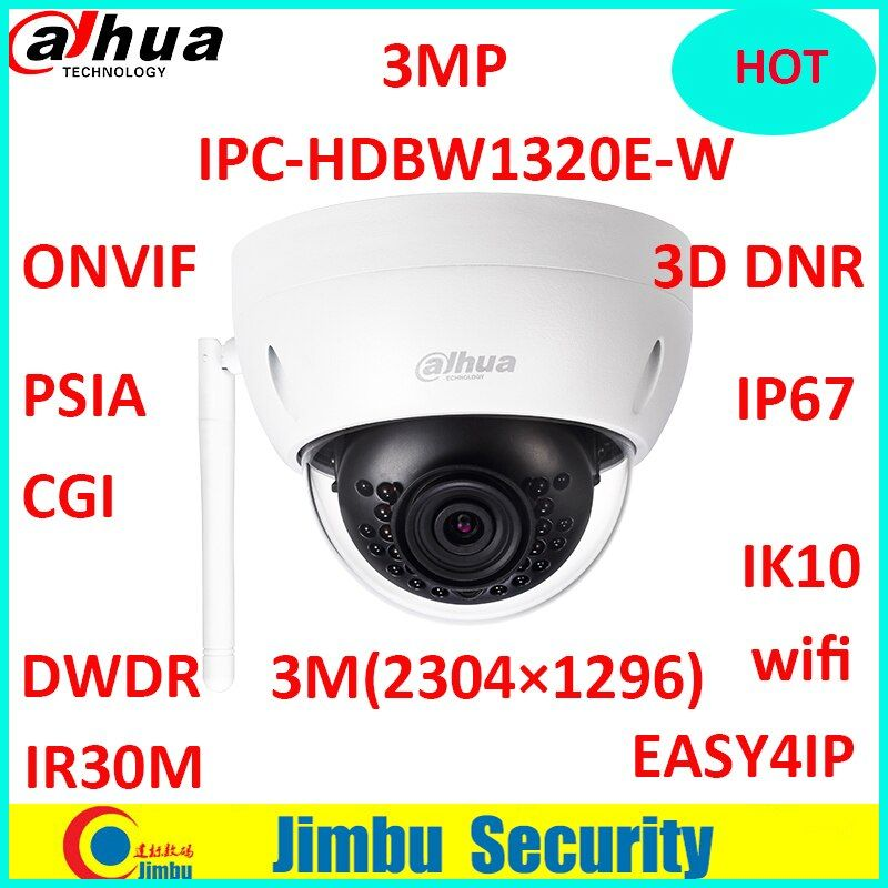 Dahua : IP/Network Wireless easy4ip camera 3mp IPC-HDBW1320E-W wifi camera p2p cctv Camera Micro SD card slot, up to 128GB
