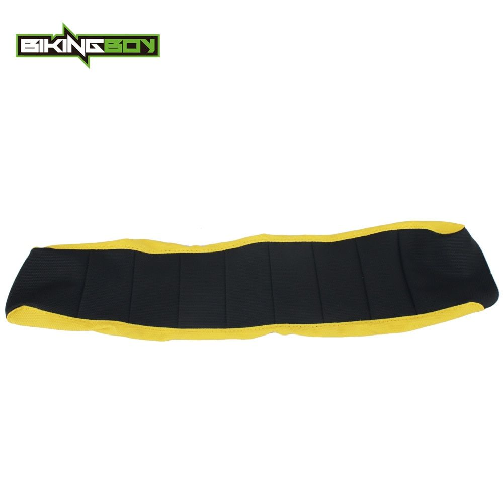 BIKINGBOY Black Yellow Motocross Offroad Bike Ribbed Gripper Soft Seat Cover for SUZUKI RMZ250 RMZ 250 2010-2016 15 14 13 12 11