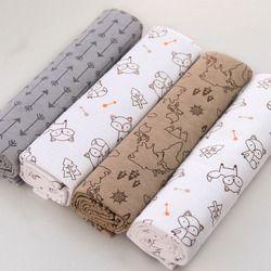 Ruyi bebe 4 Pcs/Pack 100% coton supersoft flanelle recevant couverture de bébé swaddle bébé drap 76*76 CM bébé couvertures nouveau-né