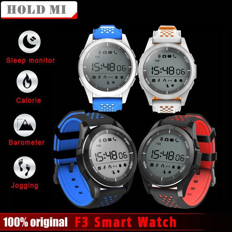 2017 Hold Mi NO.1 F3 Smart Watch Bracelet IP68 waterproof Smartwatch Outdoor Mode Sleep Monitor Calories Watch Wearable Devices