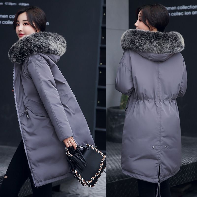Fur Collar Hooded Winter Jacket Women Parka Plus size 2017 Down Cotton Padded Coat Slim  Thick Warm Long Overcoat Female QW749