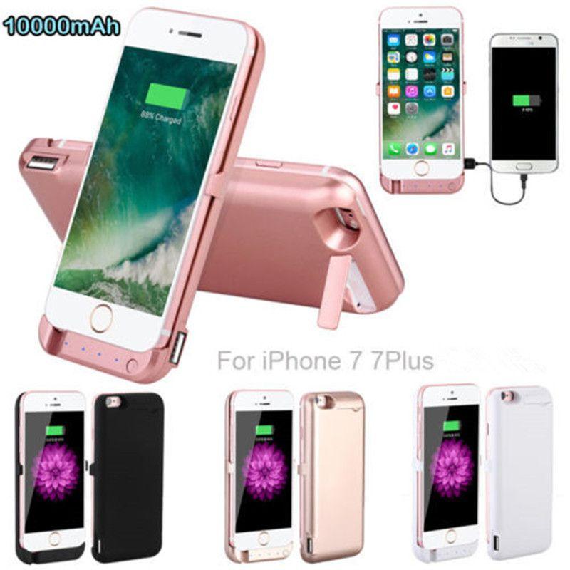 Haute quality10000mah cas d'alimentation externe pack chargeur cas de batterie de secours pour iphone 7 7 plus batterie cas