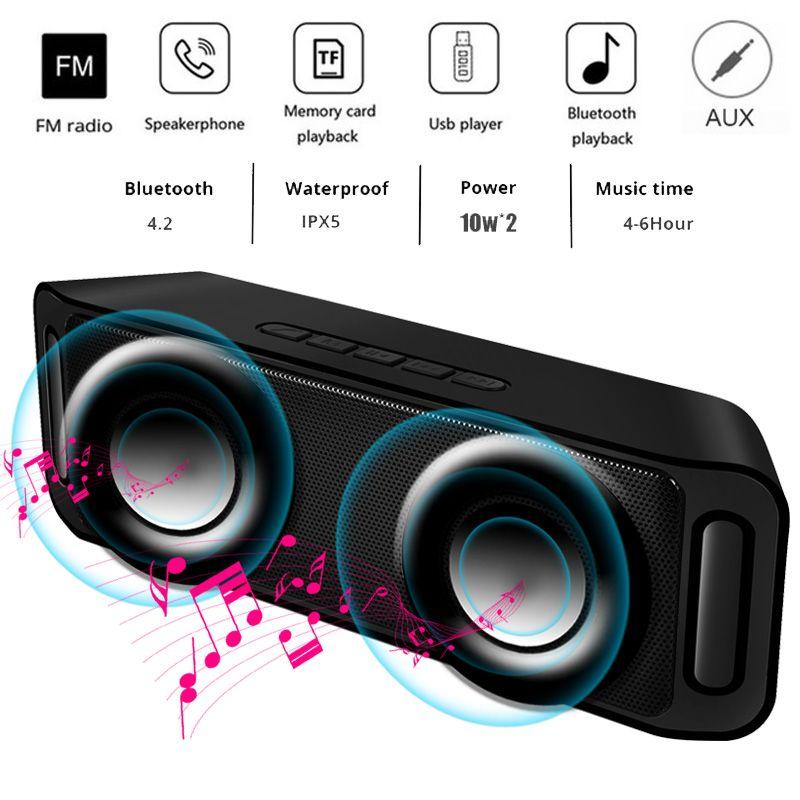 LIGE Tragbare Bluetooth lautsprecher Tragbare Drahtlose Lautsprecher Sound System 10 W stereo Musik surround Wasserdichte Outdoor Lautsprecher