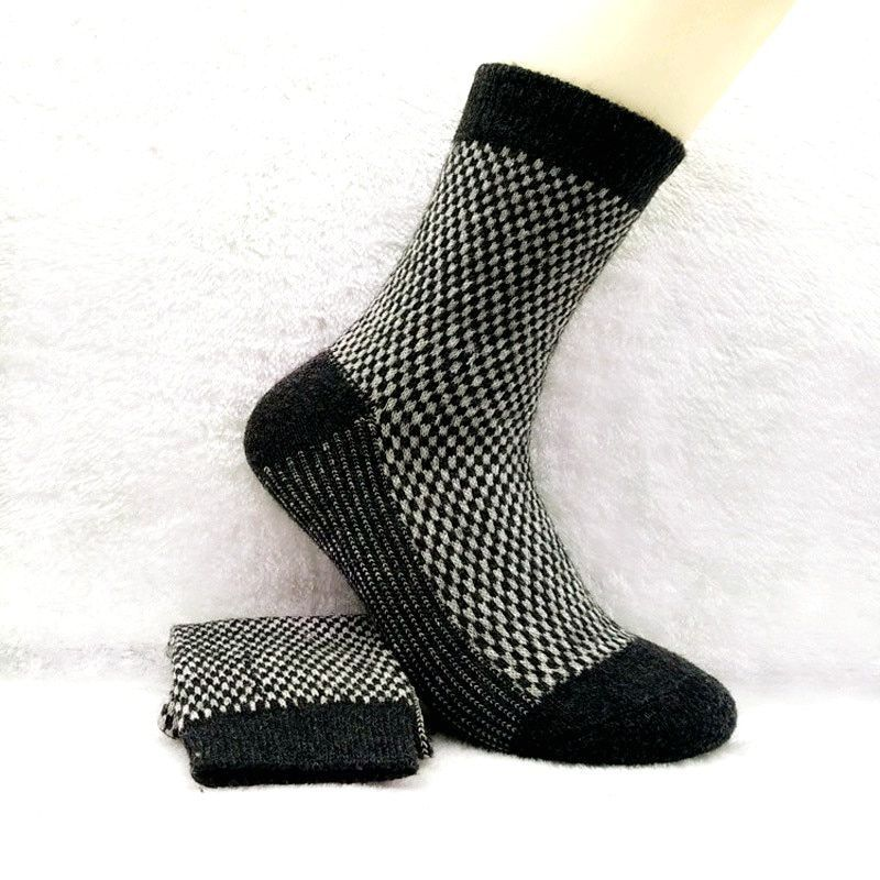 10 pieces = 5 pairs Men 's rabbit wool  winter thick warm socks cotton casual socks, Classic Business men socks