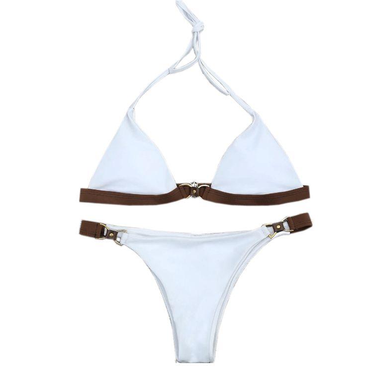 Nouveau Solide Couleur Bikini Ensemble Maillot de Bain Maillot de bain Maillots De Bain Beachwear