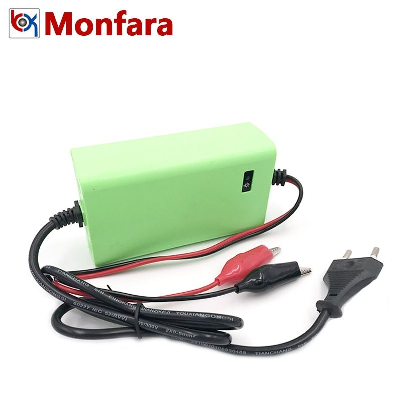 12V 2A Motorcycle Car Lead Acid Battery Charger 12 Volt 2 AMP 8AH 10AH 12AH 20AH Auto Motor Batterie Power Charge Adapter Supply