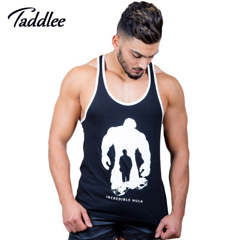 Taddlee бренд Для мужчин майка футболки Рубашки для мальчиков футболка без рукавов хлопок Повседневное Стрингер фуфайки Фитнес Бодибилдинг ма...