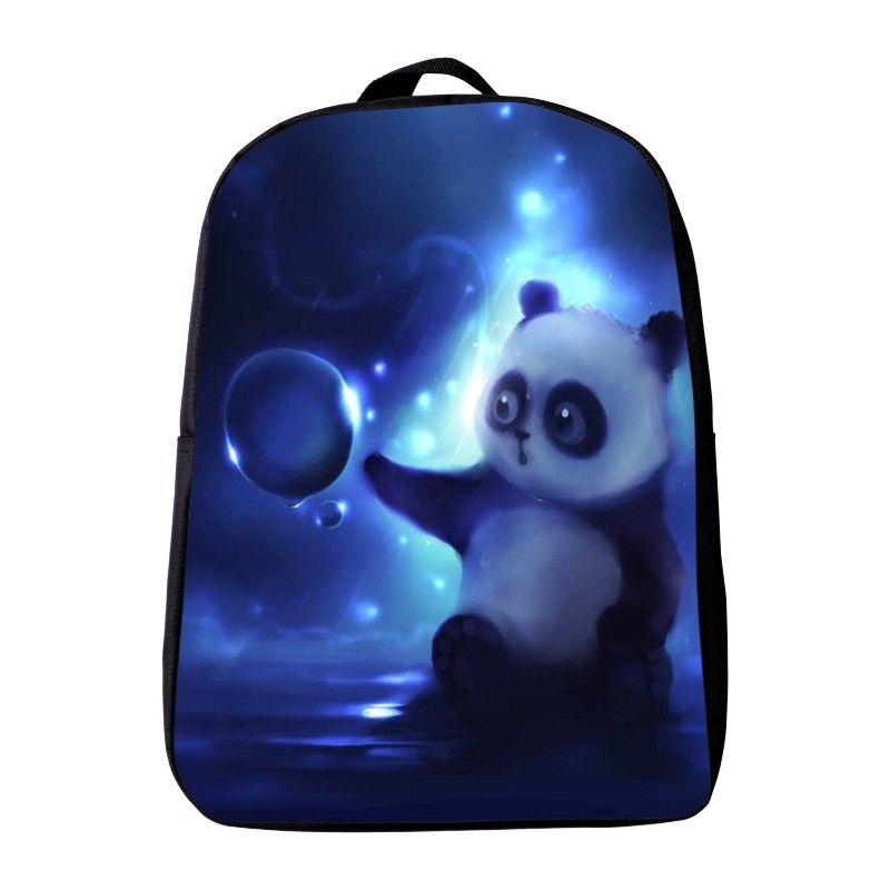 Новинка 2017 года поступления Оксфорд 12 дюйм(ов) с принтом животного панды детский сад рюкзак маленький ребенок Школьные ранцы мини infantile школ...