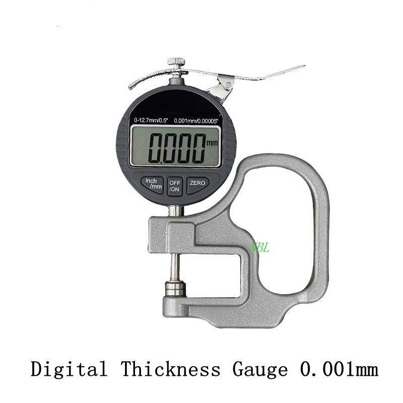 0.001mm Électronique Jauge D'épaisseur 10mm Micromètre Numérique Mètre D'épaisseur Micromètre Largeur Instruments De Mesure Des Données de Sortie