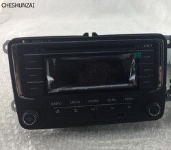 For VW Original OEM Car Radio RCN210 CD MP3 USB SD AUX Bluetooth Player For Golf 5 6 Jetta Mk5 6 Passat CC With scratches(used)
