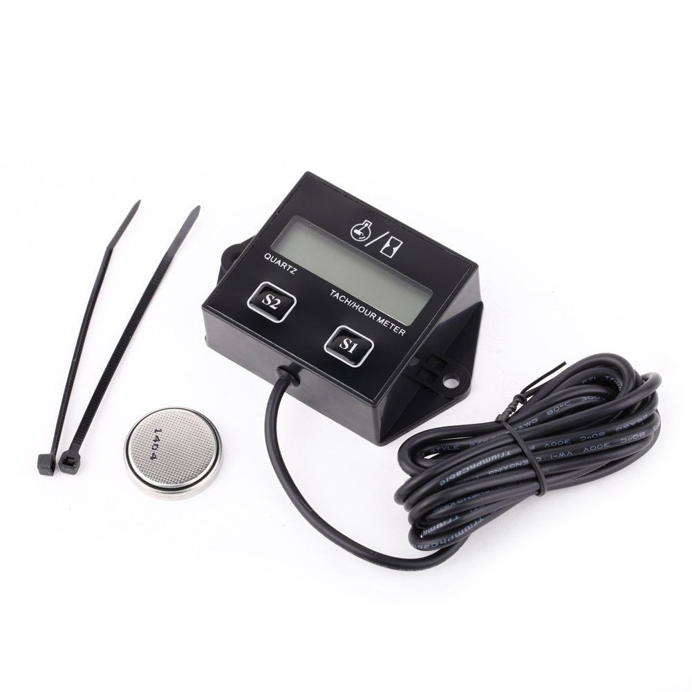 TOYL SRT-11A Waterproof IP65 Car Digital Gauge Engine Tachometer Tachometer Operating hours