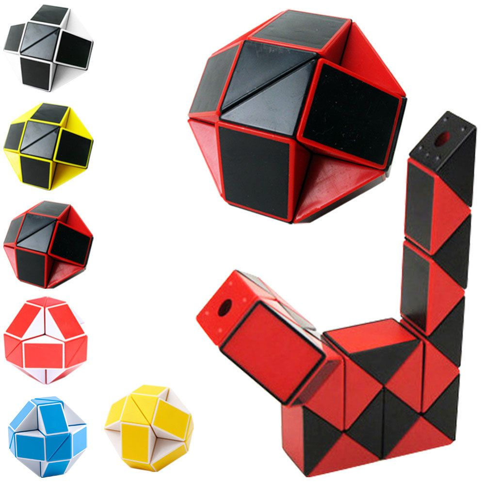 YKLWorld Newest Funny Professional Speed Magic Snake Shape Toys Game Twist Cube Puzzle Toys Gift For Kids 6 Colors Hot -45