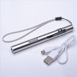 USB Rechargeable LED lampe de Poche de Haute Qualité Puissant Mini Cree LED Torche XML Étanche Conception Stylo Suspendu Avec Clip En Métal