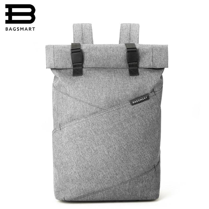 BAGSMART New Men Laptop Backpack 15.6Inch Rucksack School Bag Travel Waterproof Backpack Women Notebook Computer Bag
