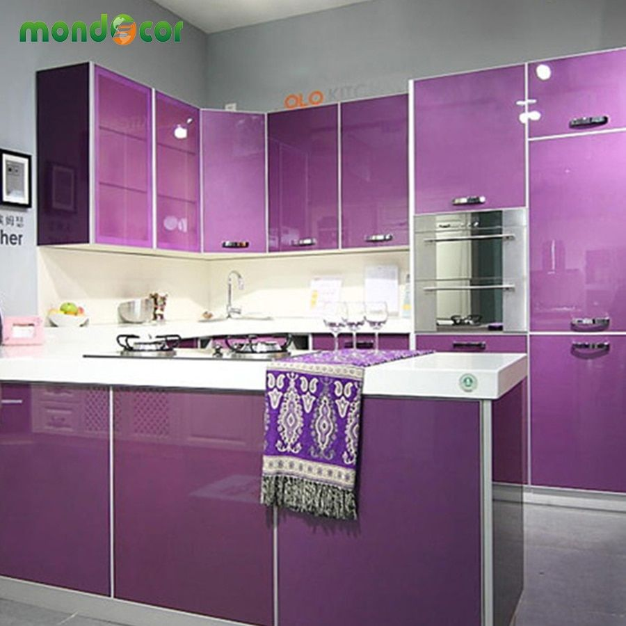 Modern Vinyl DIY Decorative Film PVC Self adhesive Wall paper Furniture Renovation Stickers Kitchen Cabinet Waterproof Wallpaper
