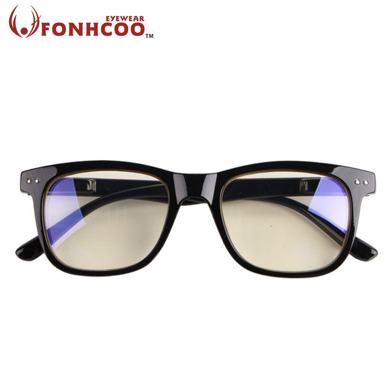 2019 FONHCOO mode Anti rayonnement bleu lumière bleue bloquant lunettes carré Anti fatigue des yeux ordinateur lunettes de jeu
