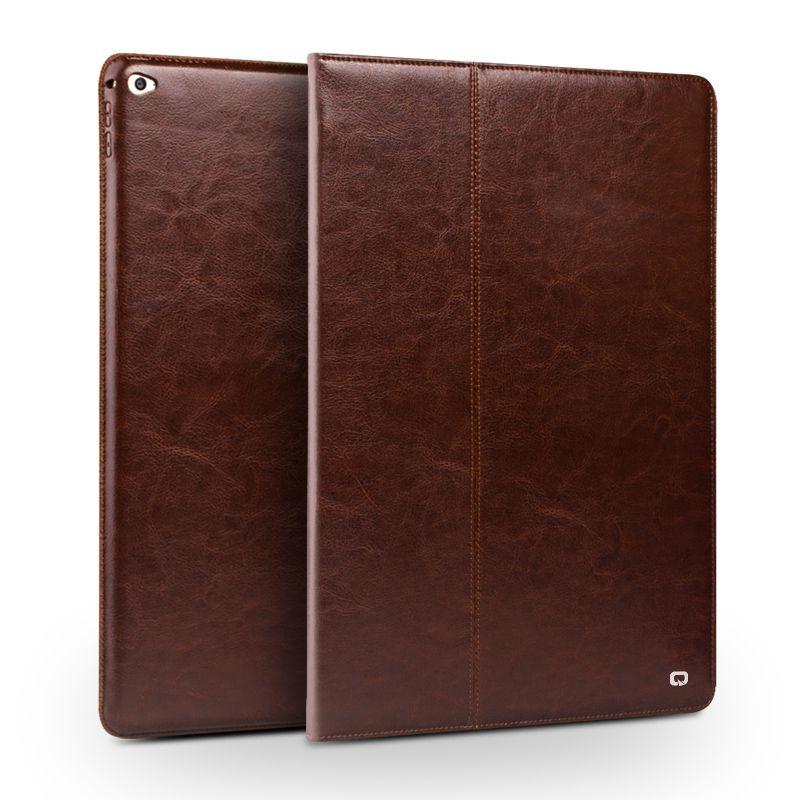 QIALINO Aus Echtem Leder Tablette Fall für iPad Pro 12,9 Mode muster Stents Ruhe Stehen Flip-Cover für iPad Pro 12,9 zoll