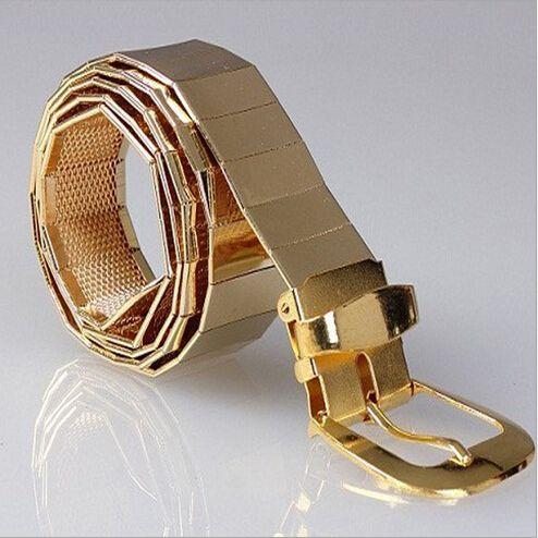 Le nouveau 2015 hommes cool mode tous les ceintures en alliage de métal hommes loisirs boucle ardillon ceintures en métal/argent doré noir hommes et femmes ceintures
