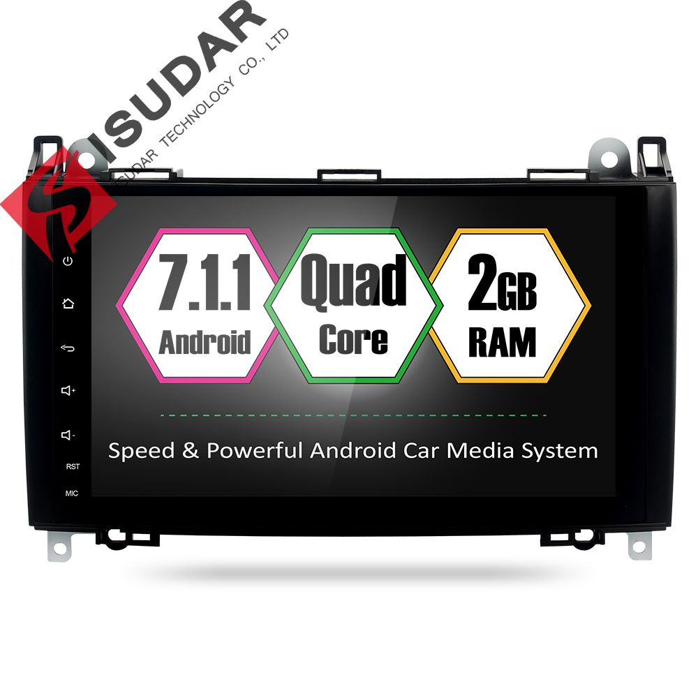 Android 7.1.1 2 Din 9 Inch Car DVD GPS Video Player For Mercedes/Benz/Sprinter/Viano/Vito/B-class/B200/B180 CANBUS 2G RAM Radio