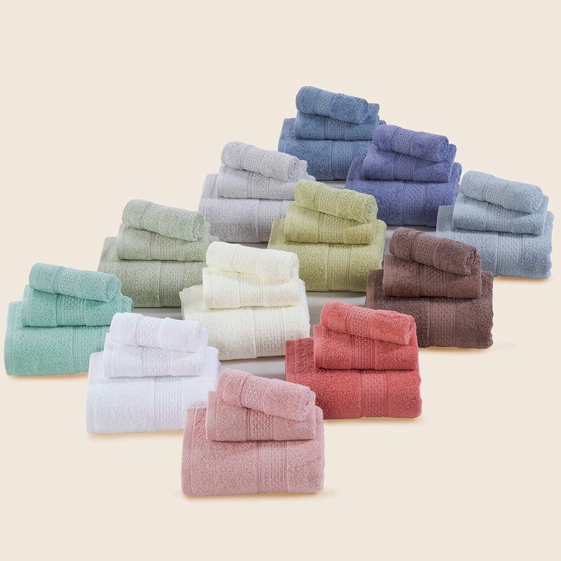 Ensemble de serviette de bain + washtowel + handtowel) 100% coton tissu éponge 3 pcs/ensemble bain serviette essuie-mains cerchief cadeau serviette ensembles