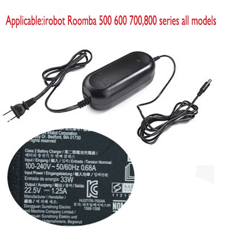 Power Adapter for irobot Roomba 527 530 550 551 560 595 620 630 650 760 770 780 Vacuum Cleaner Parts 5 6 7 8 series all models