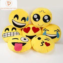 Emoji Oreiller QQ Smiley Émotion Coussin Pour Canapé Siège De Voiture Décoratifs pour La Maison Coussins Peluche Peluche Emoji Oreiller Coussin