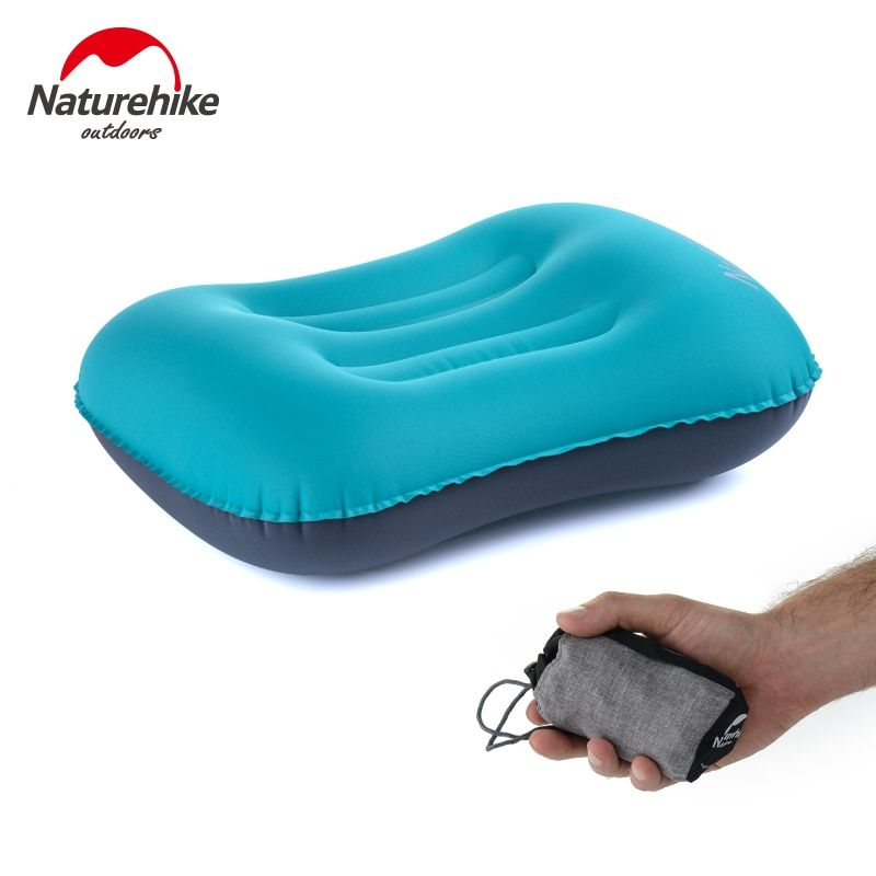 Naturehike <font><b>Inflatable</b></font> Pillow Travel Air Pillow Neck Camping Sleeping Gear Fast Portable TPU NH17T013-Z