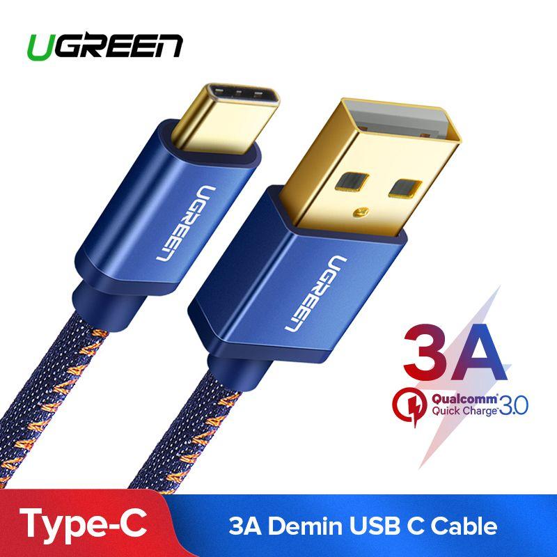 Ugreen USB C Kabel für Xiao mi mi 8 3A USB Typ C Kabel Schnelle Lade Datenkabel für Samsung galaxy S9 Nintend Schalter USB Ladegerät