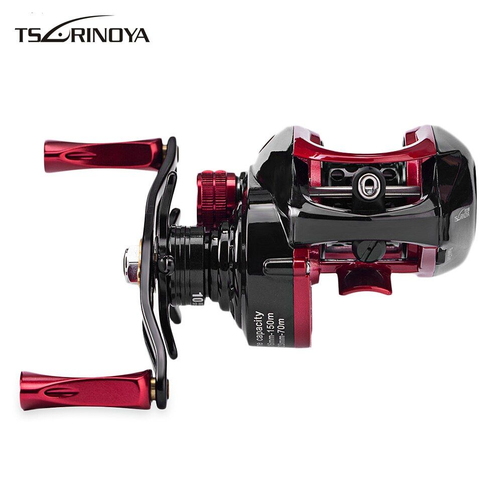 Tsurinoya XF-50 6.6:1 9+1BB Metal Fishing Reel Left/Right Bait Casting Fishing Reels Hand Deep Spool Optional Water Drop Wheel