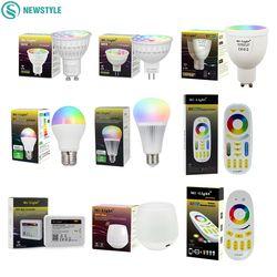 Mi Lumière Dimmable Led Ampoule 4 W 5 W 6 W 9 W E27 MR16 GU10 RGBW RGBWW led Lampes Sans Fil Wifi Contrôleur Boîte 2.4G RF À Distance Contrôleur