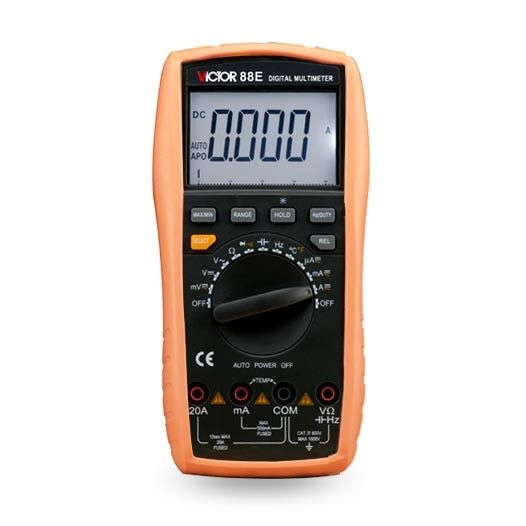 VICTOR 88E Large-screen LCD Handheld display digital multimeter