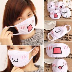 1 шт. Kawaii анти пыли маска Kpop хлопковая маска для губ милые аниме мультфильм рот муфельные уход за кожей лица смайлик маска маски Kpop