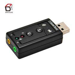 Мини Внешний USB звуковая карта 7,1 CH Канал 3D аудио адаптер с 3,5 мм гарнитура микрофон динамик для ПК настольный ноутбук