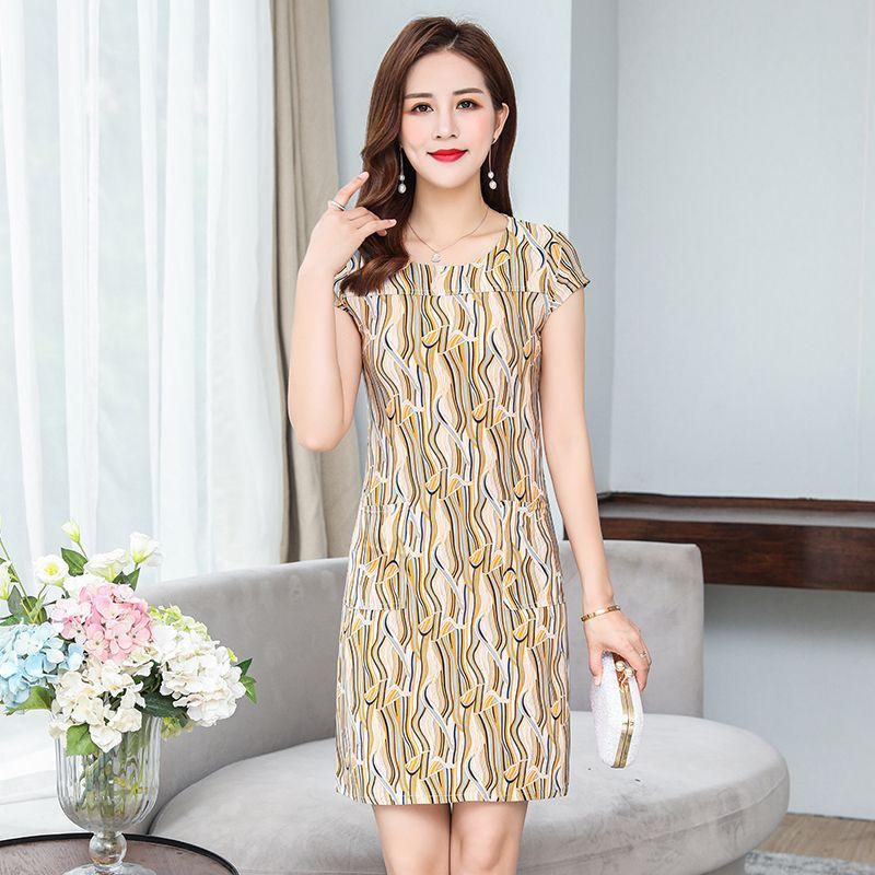 2019 femmes robe décontracté grande taille Slim tunique lait soie imprimé Floral robes sexy moulante robe d'été robes mujer