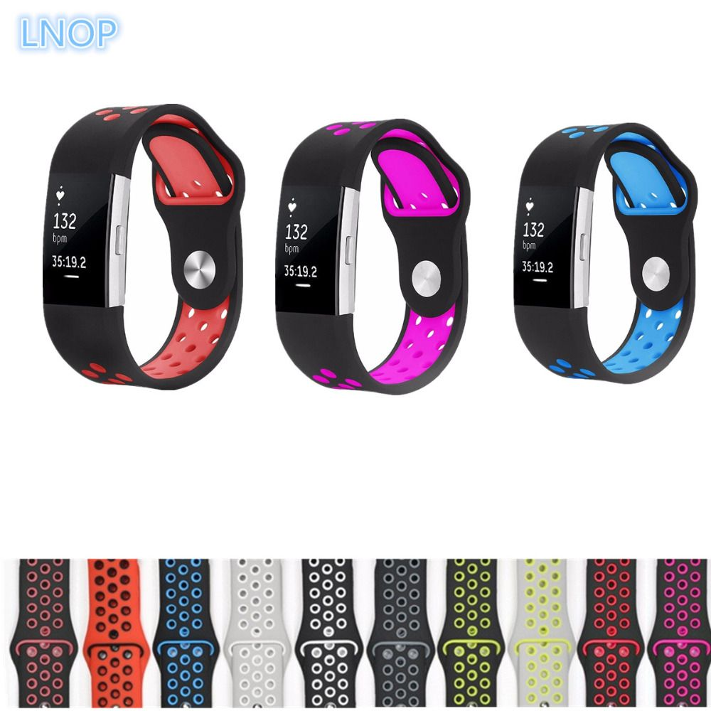 LNOP Strap for fitbit charge 2 band Silicone strap For Fitbit charge 2 bracelet smart wristbands Wearable Device Accessories