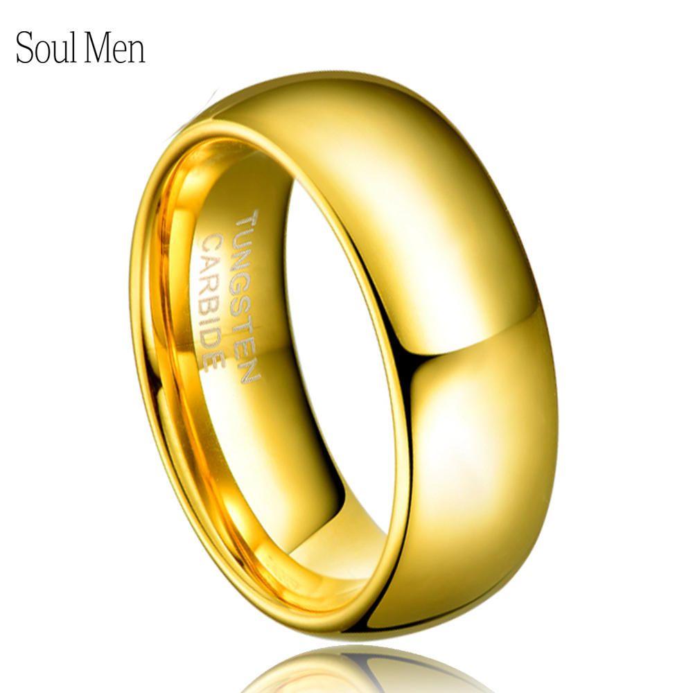Bague anniversaire classique homme femme 8mm couleur or Alliance tungstène mariage bande de fiançailles pas de pierre USA taille 4-15 TU003R