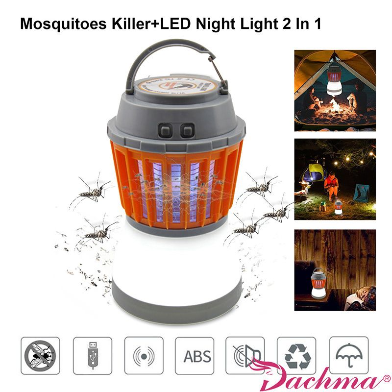 Mosquito Killer Electric Lamps USB Chargeable Bug Zapper Mosquito Traps Kill Mosquito Repellent Waterproof Fly Trap Pest Contral
